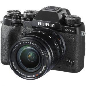 Fujifilm X-T2 body with lens