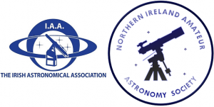 Northern Ireland Amateur Astronomy Society and Irish Astronomical Association logos