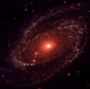 An amazing red spiral galaxy